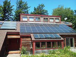 Ellsworth, Maine - Solar Hot Water and Solar Photovoltaic System