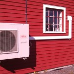Outdoor heat pump installatino