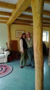 Susan & Jim, new home, beams